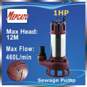 Bơm chìm hố móng nước thải Mepcato CS-2.75S 750W 27.6m3/h