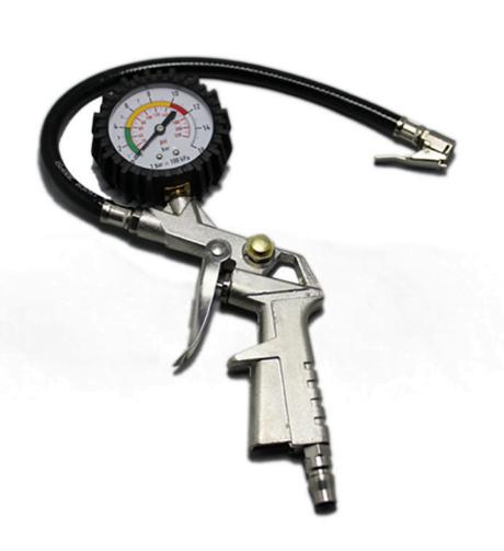 Đồng hồ đo áp suất lốp xe kèm tay bơm lốp PJCASOO 25/D