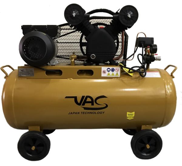 Máy nén khí 2 đầu bơm VAC (mô tơ dây đồng)